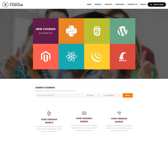 Unidash Online Courses