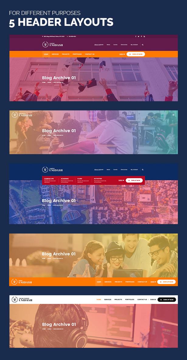 Unidash - WordPress Theme for University and Online Education - 16