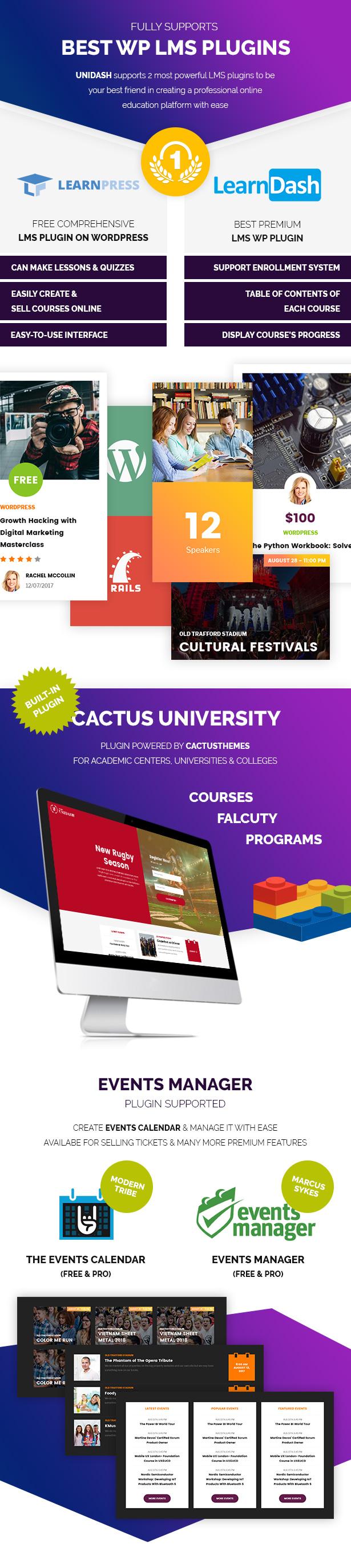 Unidash - WordPress Theme for University and Online Education - 12